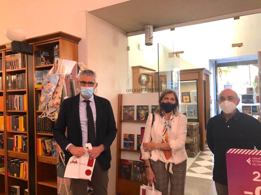 sindaco e prefetto in libreria Paolino